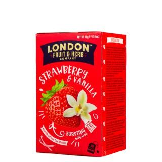 London Fruit & Herb Strawberry & vanilla fool 20stk