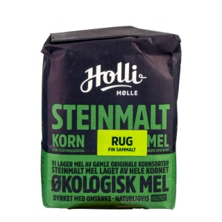 HOLLI økologisk fint sammalt RUG 1kg