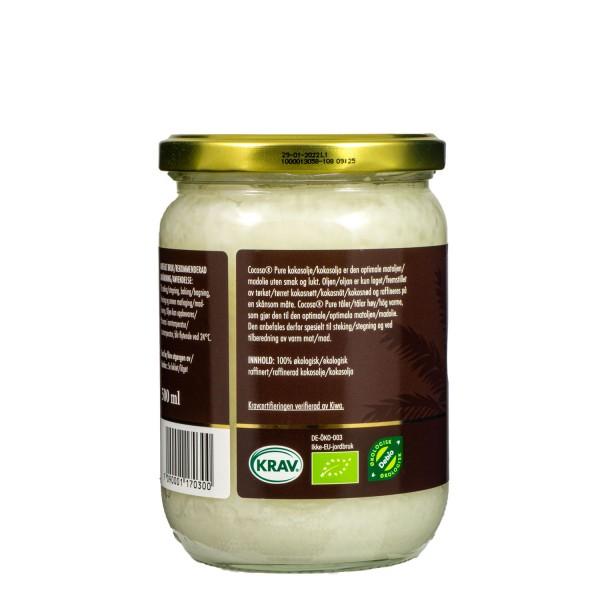 COCOSA Pure økologisk kokosolje 500 ml