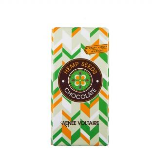 RENÉE VOLTAIRE Mørk sjokolade med hampfrø, 100g