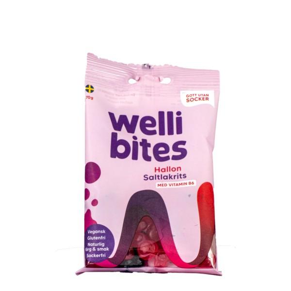 WELLIBITES bringbær & lakris med B6, 70g