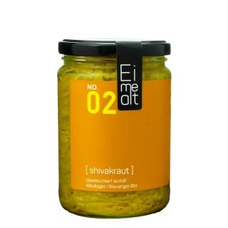 EIMEALT håndlaget sauerkraut m/ingefær, 390 ml