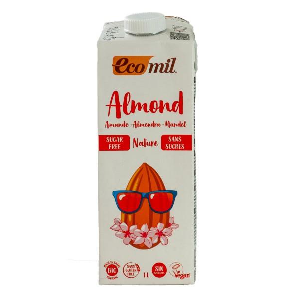 ECOMIL økologisk og sukkerfri mandelmelk, 1L