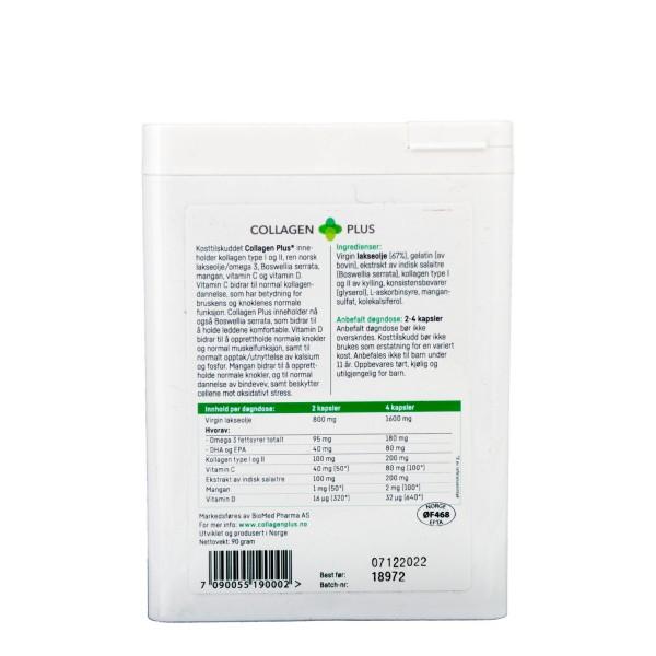 Collagen Plus, 3 x 120 kpsl