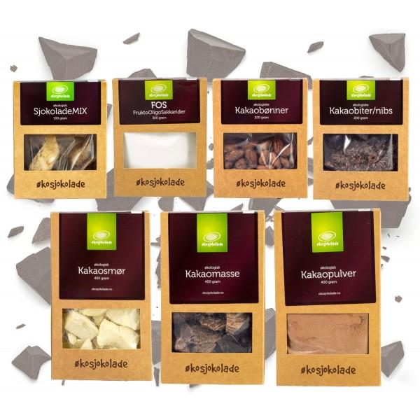 Økosjokolade luksuspakke - 7 ingrededienser