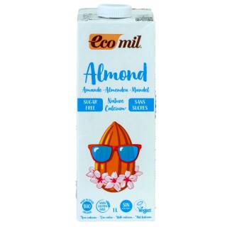 ECOMIL økologisk mandelmelk kalsium, 1L