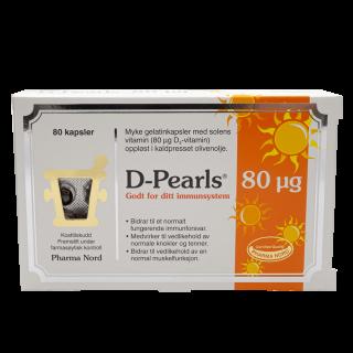 D-Pearls 80 µg 80 kapsler