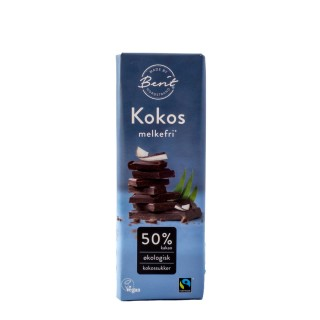 BERIT sjokolade 50% kokos, 40g