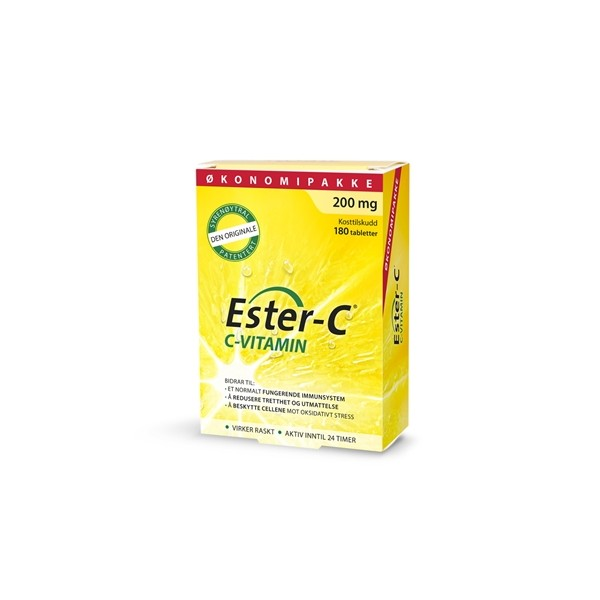 Ester C 200 mg, økonomipakke - 180 tabletter