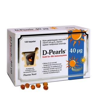 D-Pearls 40 µg, 120 kapsler