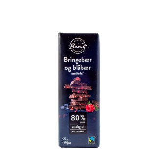 BERIT mørk sjokolade 80% m/bær 40g