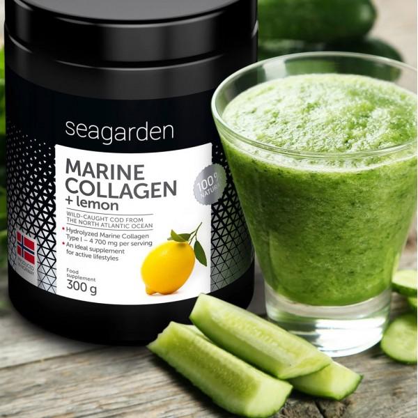 SEAGARDEN Marine Collagen sitron 300g