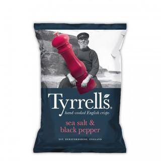 TYRRELL's sea salt and black pepper chips 150 gram