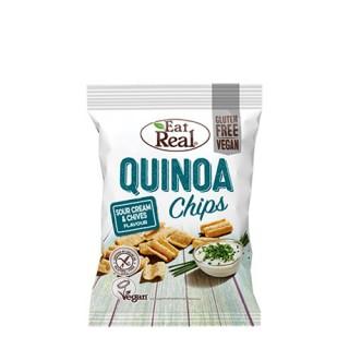 Eat Real quinoa chips m/rømme og gressløk, 30 g