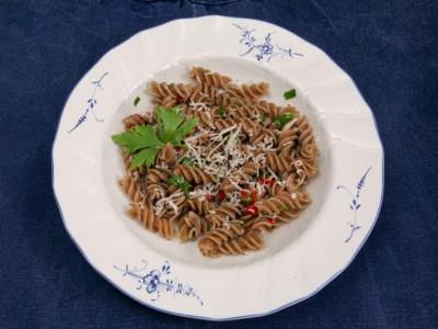 Fusilli aglio e olio